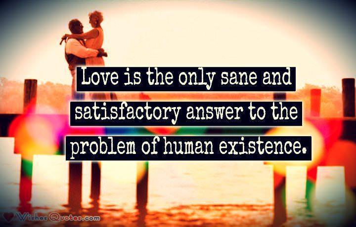 Love Makes Us Exist