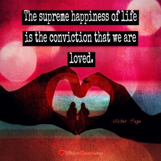 Love is the supreme happiness