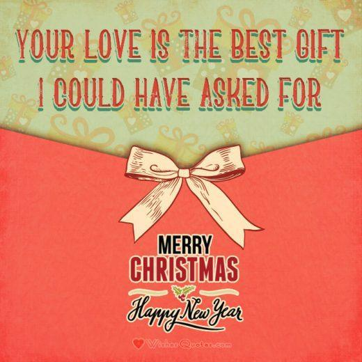 Christmas Love Greetings Card