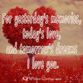 I Love You For Yesterdays Memories