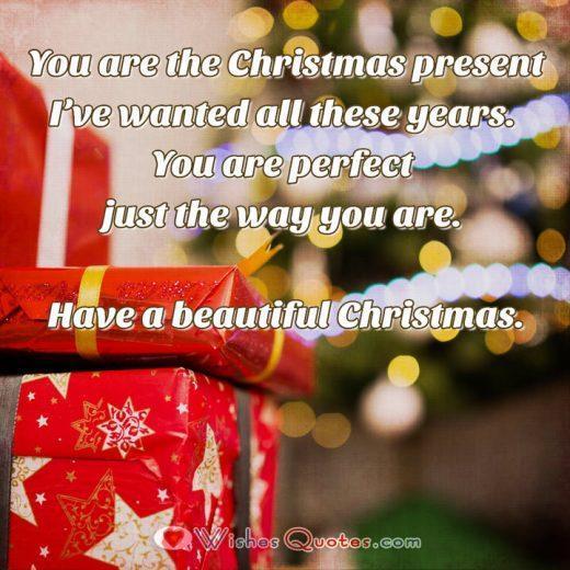 Romantic Christmas Message