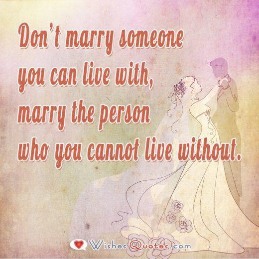 Marry The Person