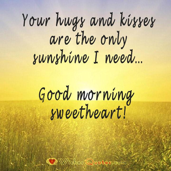 Sweet good morning messages for her good morning sweetheart m4hsunfo