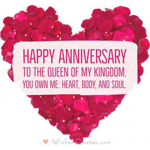 Happy Anniversary to the queen of my kingdom. You own me: heart, body, and soul.