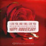 I love you, and I will love you until I die, and if there's a life after that, I'll love you then. Happy Anniversary!