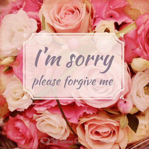 I'm sorry please forgive me