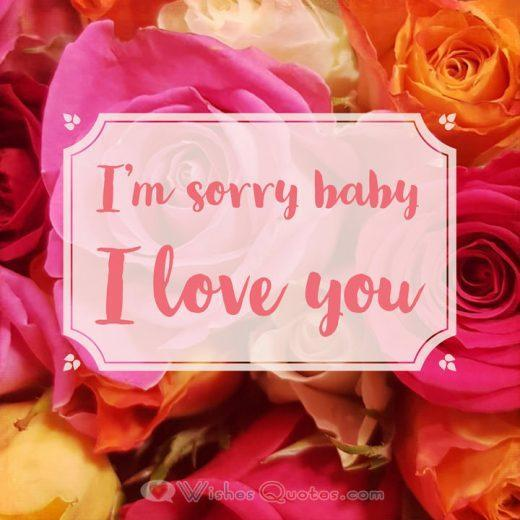 I'm sorry baby I love you