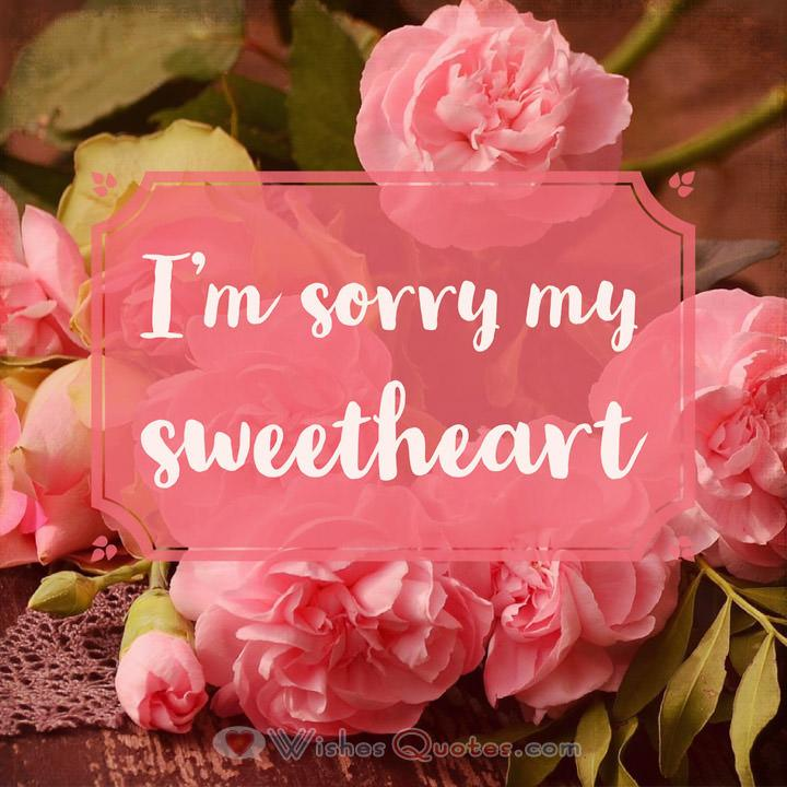 Im sorry messages for girlfriend 30 sweet ways to apologize to her im sorry my sweetheart m4hsunfo