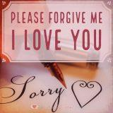 Apology for boyfriend: Please forgive me, I love you.