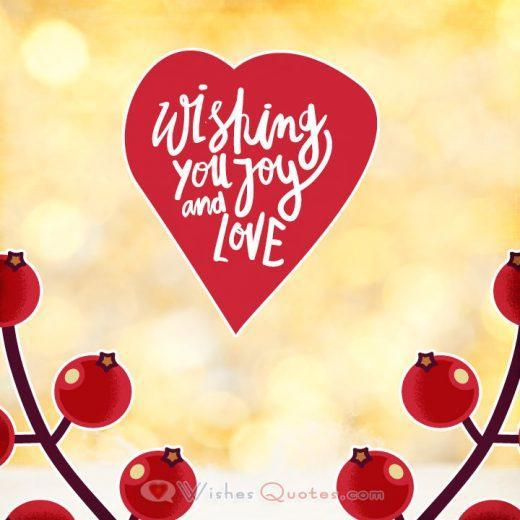 Joy and love Christmas wishes