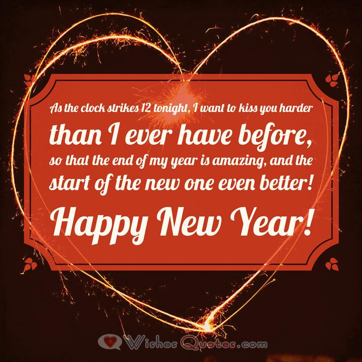 sweetheart romantic new year messages for your love