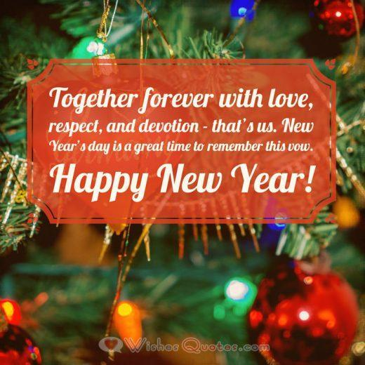Romantic New Year Wish for your Sweetheart