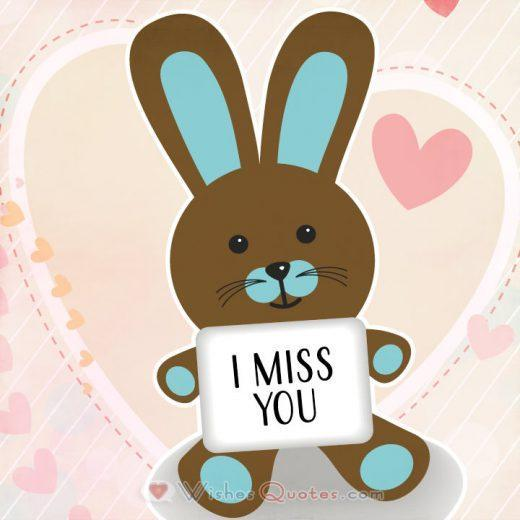 Cute I Miss You Card