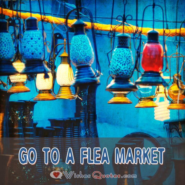 First Date Ideas Go To A Flea Market