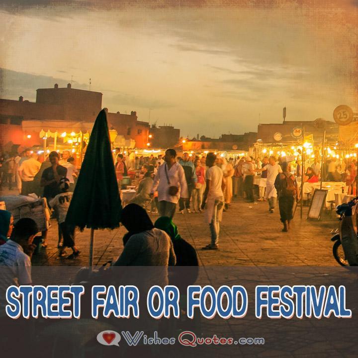 Street Fair Or Food Festival