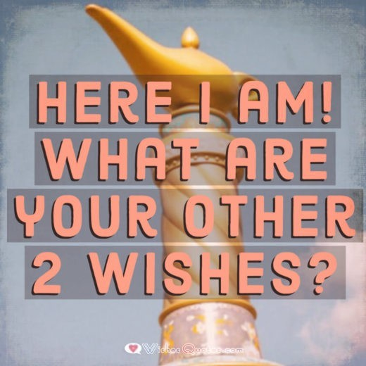 Funny Flirty Pick Up Lines - Here I am! What are your other 2 wishes?